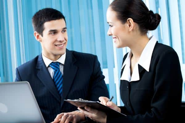biznesowa rozmowa