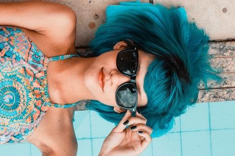 niebieskowłosa